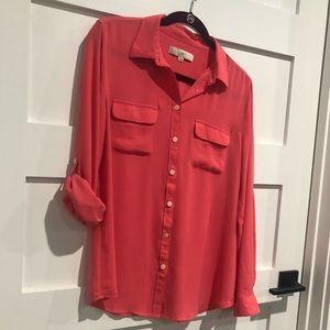 Coral LOFT Utility blouse
